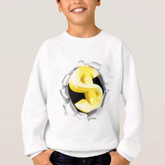 Dollar Sign Bursting Background Sweatshirt