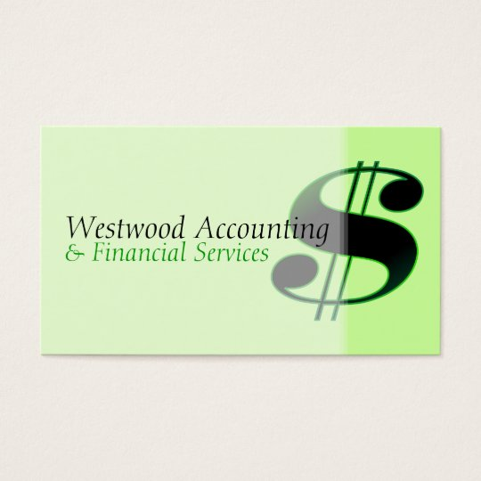 Dollar Sign Business Card
