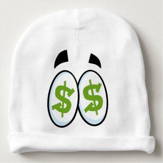 Dollar Sign Cartoon Eyes Money Cash Baby Beanie