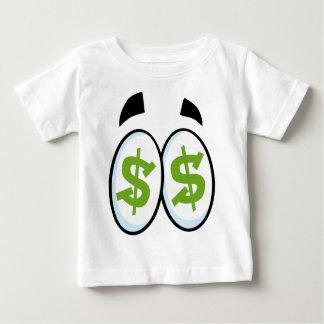 Dollar Sign Cartoon Eyes Money Cash Baby T-Shirt