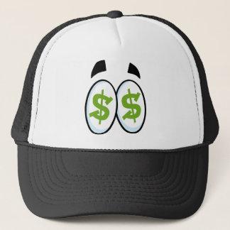 Dollar Sign Cartoon Eyes Money Cash Trucker Hat
