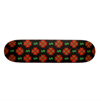 Dollar Sign Graphic Pattern Custom Skate Board