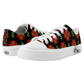 Dollar Sign Graphic Pattern Low-Top Sneakers