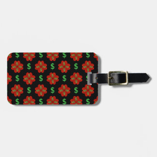 Dollar Sign Graphic Pattern Luggage Tag