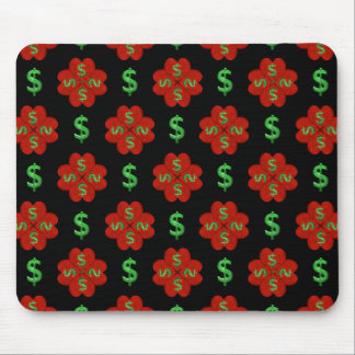 Dollar Sign Graphic Pattern Mouse Pad