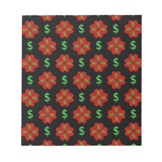 Dollar Sign Graphic Pattern Notepad