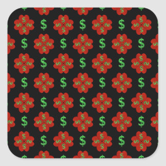 Dollar Sign Graphic Pattern Square Sticker