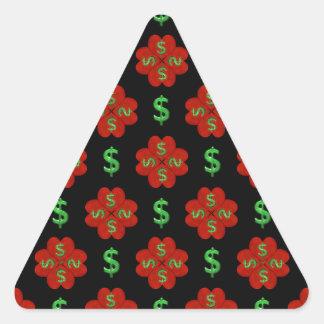 Dollar Sign Graphic Pattern Triangle Sticker