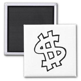 Dollar Sign Magnets