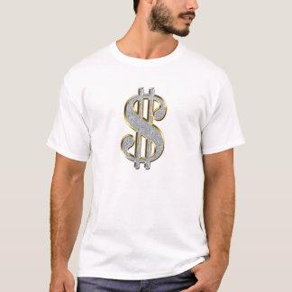 Dollar Sign on white T-Shirt