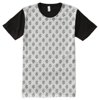 Dollar Sign Pattern – Black and White All-Over-Print T-Shirt