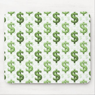 Dollar Sign Pattern Mouse Pad