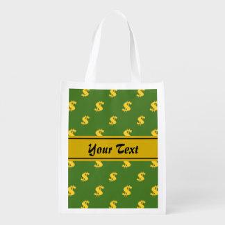 Dollar sign pattern  Reusable Bag