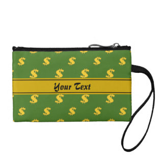 Dollar sign pattern Wristlet