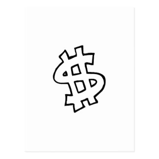 Dollar Sign Postcard