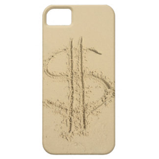 Dollar sign written in sand iPhone 5 covers