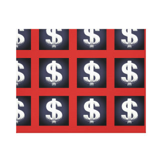 Dollar Signs Wall Art Canvas