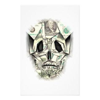 Dollar Skull design Stationery