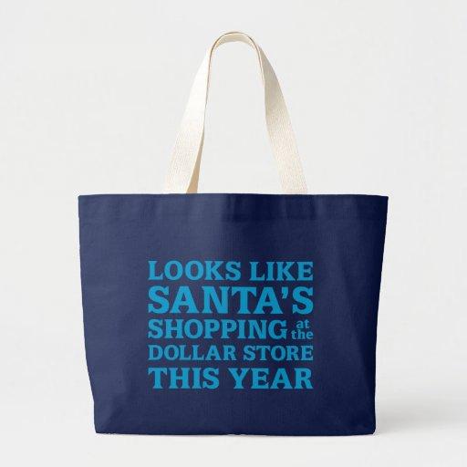 Dollar Store Santa Canvas Bag
