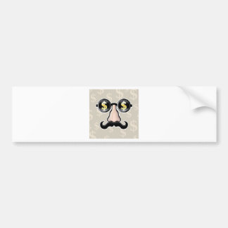 Dollar Sunglasses With nose and mustache Bumper Sticker