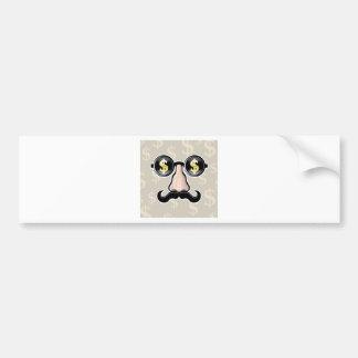 Dollar Sunglasses With nose and mustache Bumper Sticker