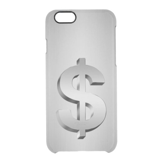 Dollar symbol clear iPhone 6/6S case