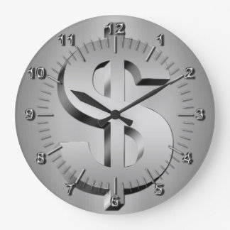 dollar symbol large clock
