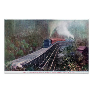 Dollarhide Trestle, Shasta Route, Southern Pacific Poster