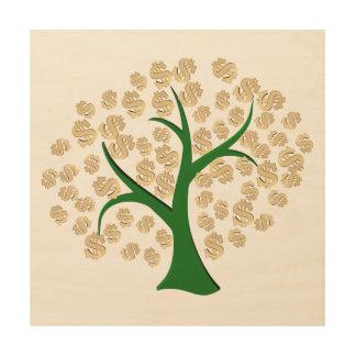 Dollars tree wood canvas