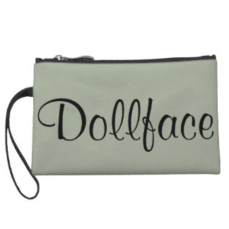 Dollface Wristlet Cosmetic Bag