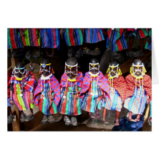 DOLLS IN A KENYAN MARKET CARD