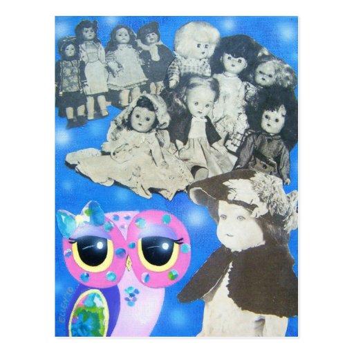 Dolls Of Yesteryear Postcard
