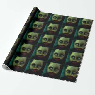 dolly death haunted doll products wrapping paper