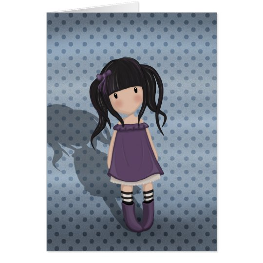 Dolly girl in purple card