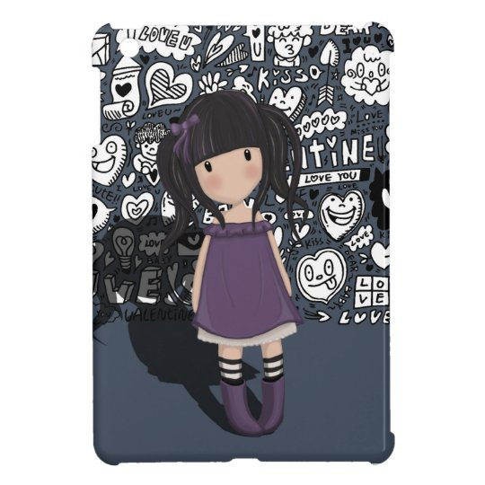 Dolly girl in purple case for the iPad mini