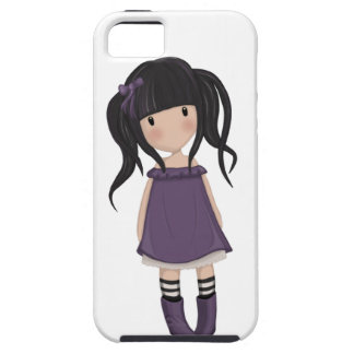 Dolly girl in purple case for the iPhone 5