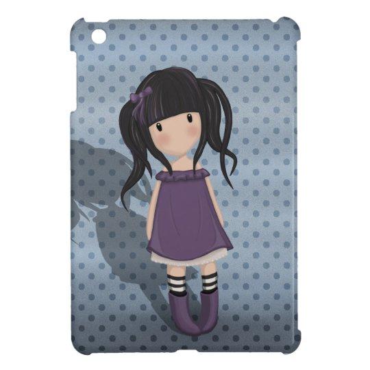 Dolly girl in purple iPad mini cover