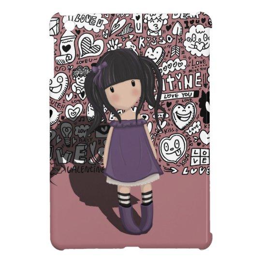 Dolly girl in purple iPad mini covers