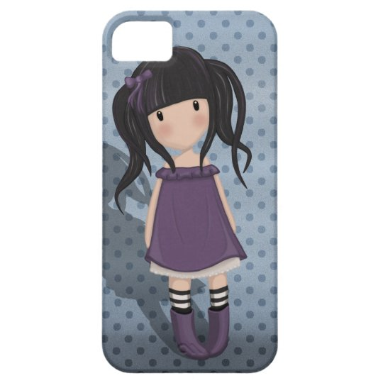 Dolly girl in purple iPhone 5 cases