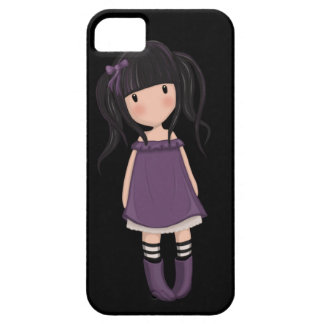Dolly girl in purple iPhone 5 cover