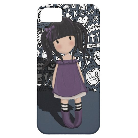 Dolly girl in purple iPhone 5 covers