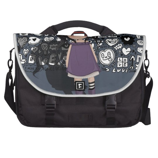 Dolly girl in purple laptop bags