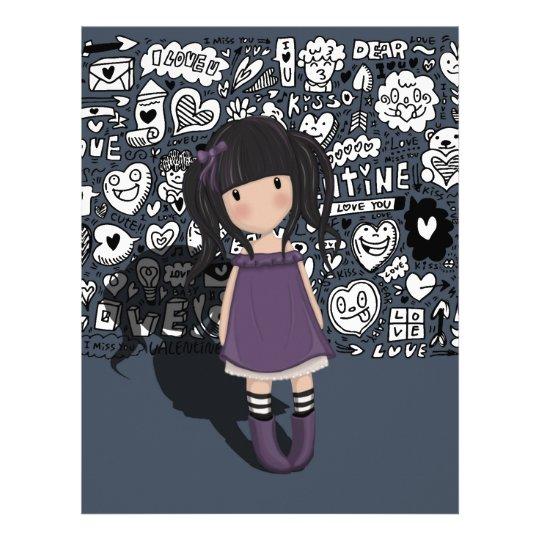 Dolly girl in purple letterhead