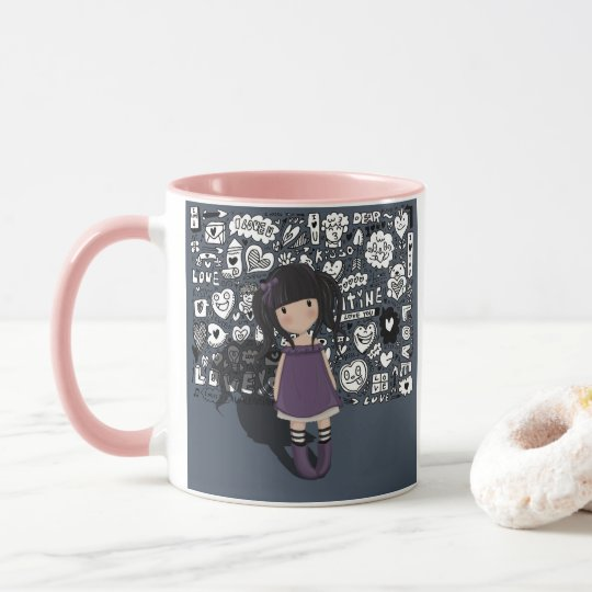 Dolly girl in purple mug