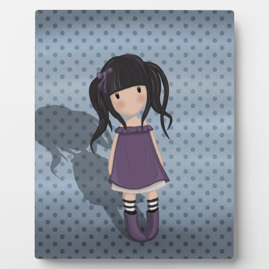 Dolly girl in purple plaque