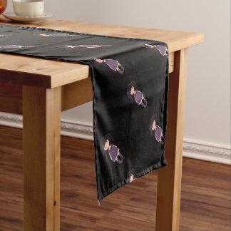 Dolly girl in purple short table runner