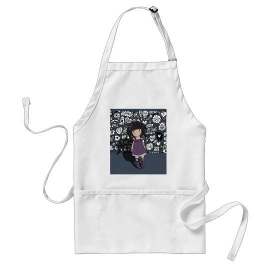 Dolly girl in purple standard apron