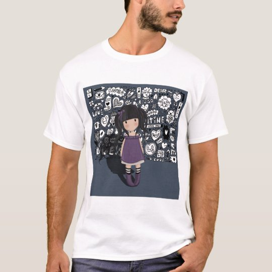 Dolly girl in purple T-Shirt