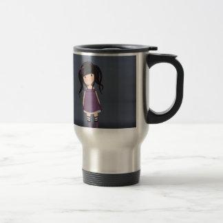 Dolly girl in purple travel mug