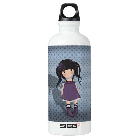 Dolly girl in purple water bottle